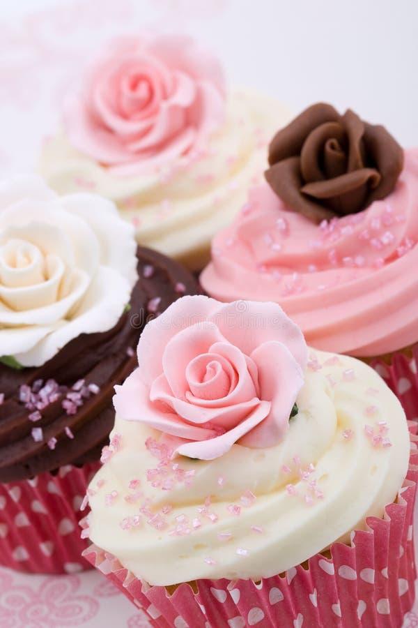Huwelijk cupcakes royalty-vrije stock foto