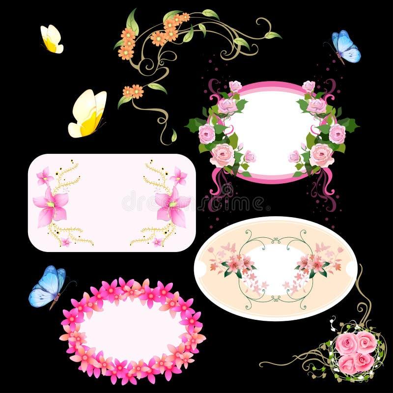 Huwelijk Flower1 vector illustratie