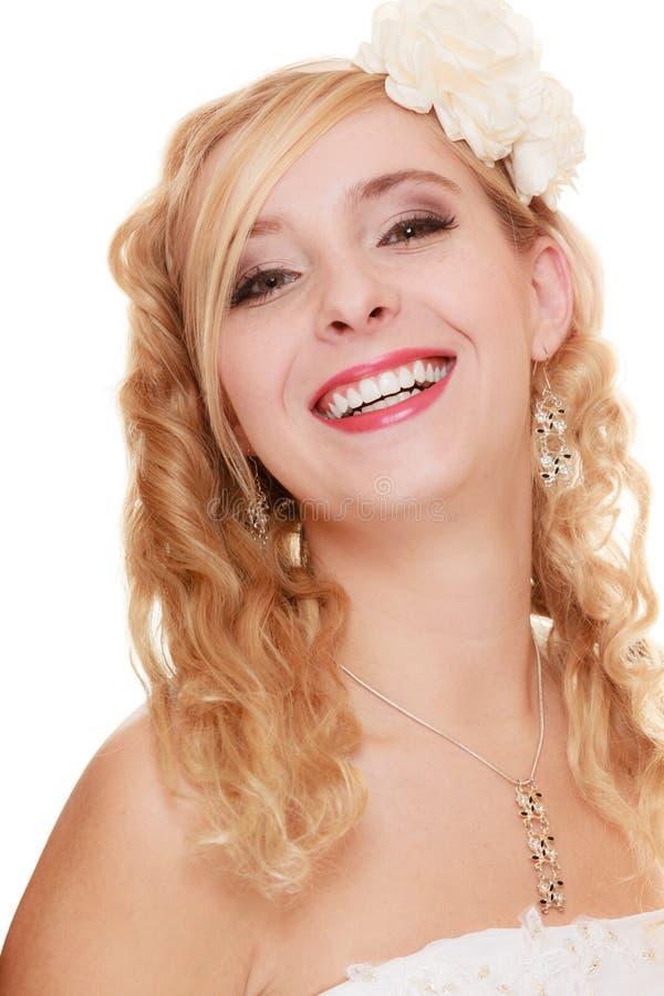 Huwelijk Jonge aantrekkelijke romantische bruidvrouw stock foto's