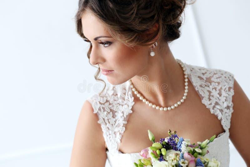 Huwelijk Mooie Bruid royalty-vrije stock foto's