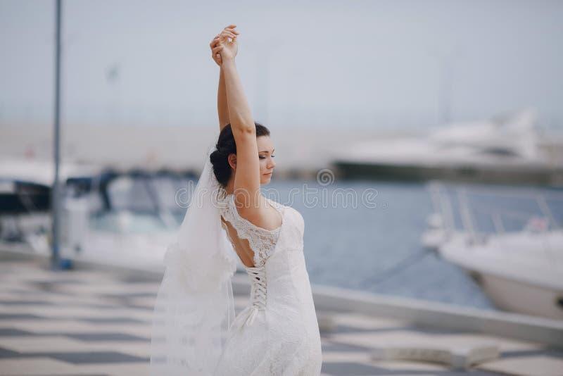 Huwelijk in Odessa; royalty-vrije stock afbeeldingen