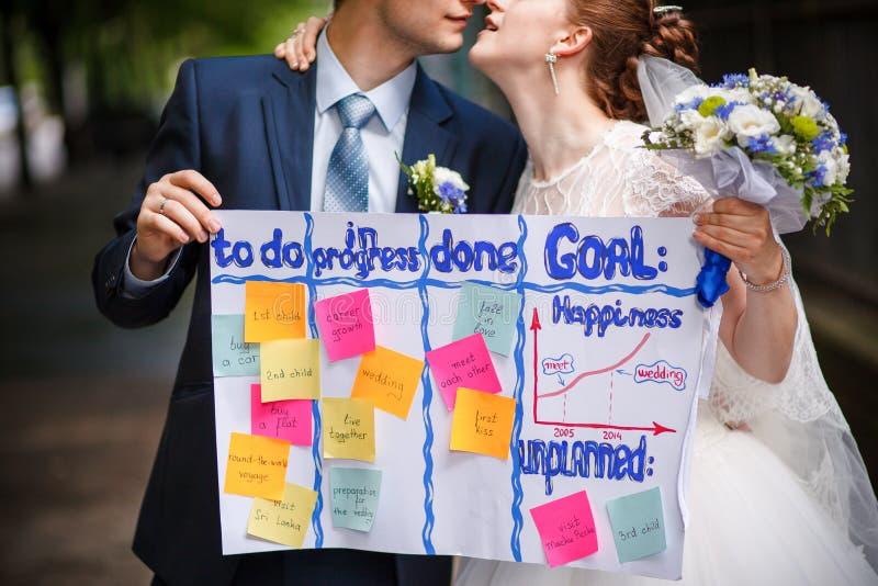 Huwelijk om lijst te doen stock fotografie