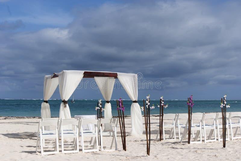 Huwelijk op het strand royalty-vrije stock foto
