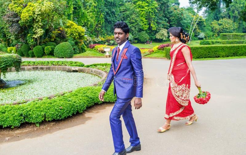Huwelijk in Sri Lanka stock foto's
