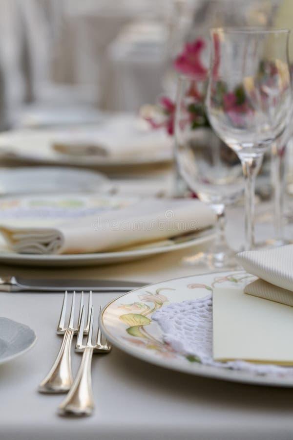 Huwelijk table03 stock foto