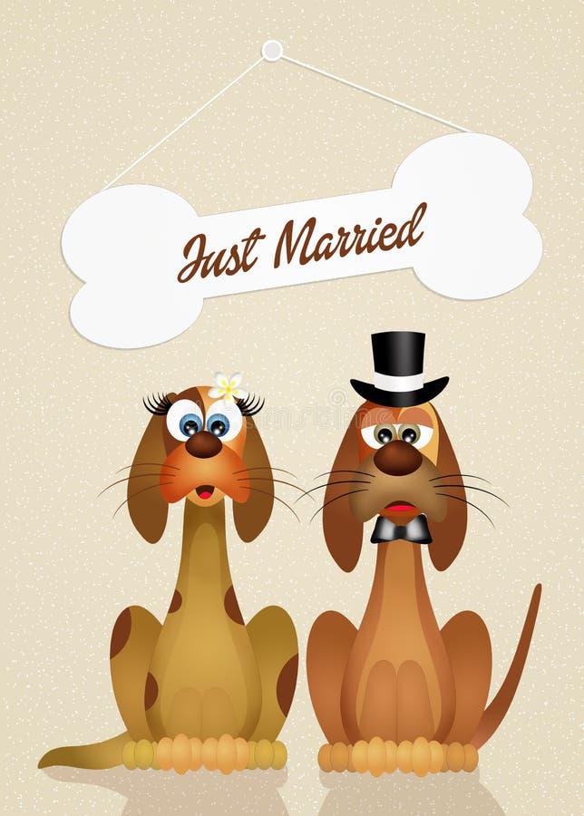 Download Huwelijk van honden stock illustratie. Illustratie bestaande uit honden - 54084625
