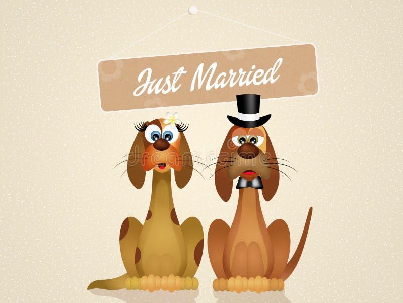 Download Huwelijk van honden stock illustratie. Illustratie bestaande uit illustratie - 54084757