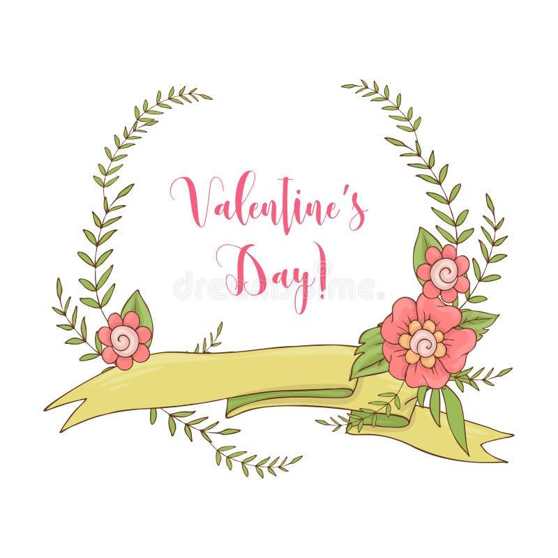 Huwelijks grafische reeks, pijlen, harten, laurier, kronen, linten en etiketten stock illustratie