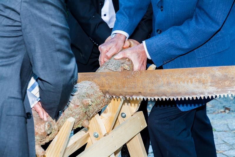 Huwelijks houten ritueel stock afbeeldingen