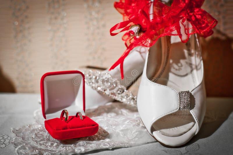huwelijks toebehoren stock afbeeldingen
