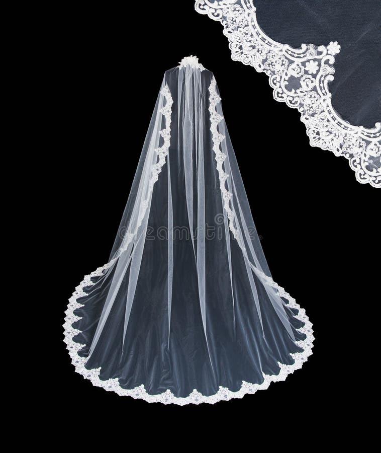 Huwelijks witte sluier royalty-vrije stock afbeelding