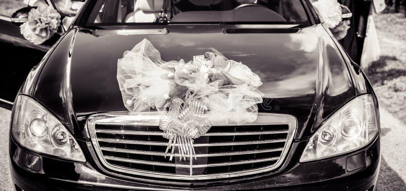 Huwelijksauto stock foto's