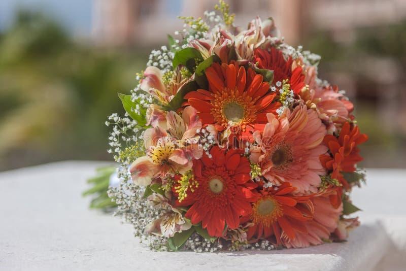 Huwelijksbloemen voor ceremonie royalty-vrije stock foto's