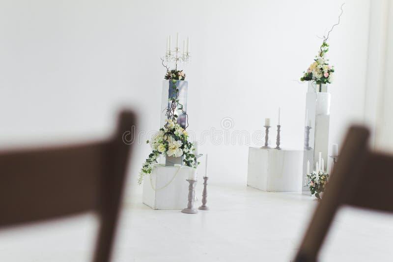 Huwelijksbloemstukken royalty-vrije stock afbeeldingen