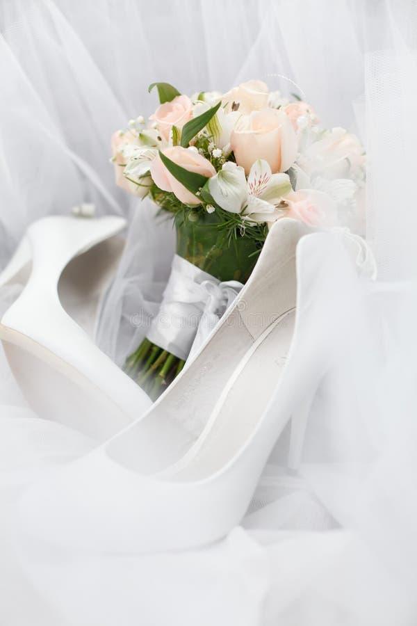 Huwelijksboeket stock foto's