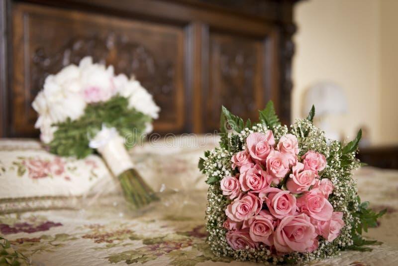 Huwelijksboeket van bloemen stock afbeelding