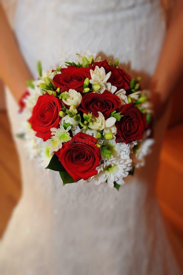 Huwelijksboeketten stock afbeelding