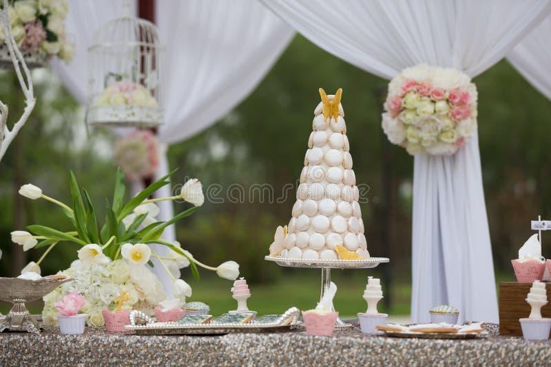 Huwelijkscakes royalty-vrije stock foto's