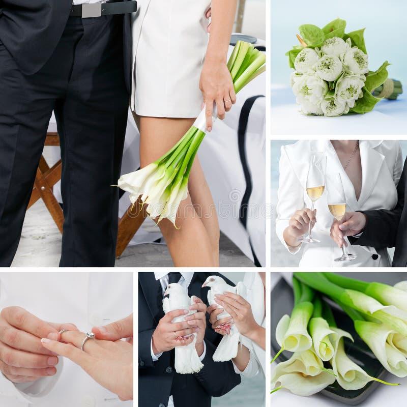 Huwelijkscollage stock afbeelding