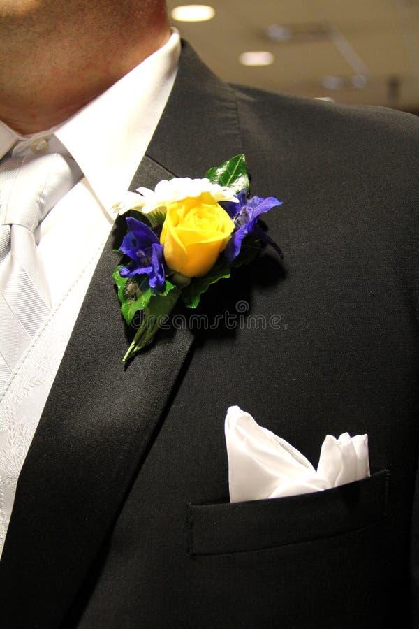Huwelijkscorsage royalty-vrije stock fotografie