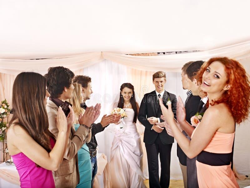 Huwelijksdans. stock foto's