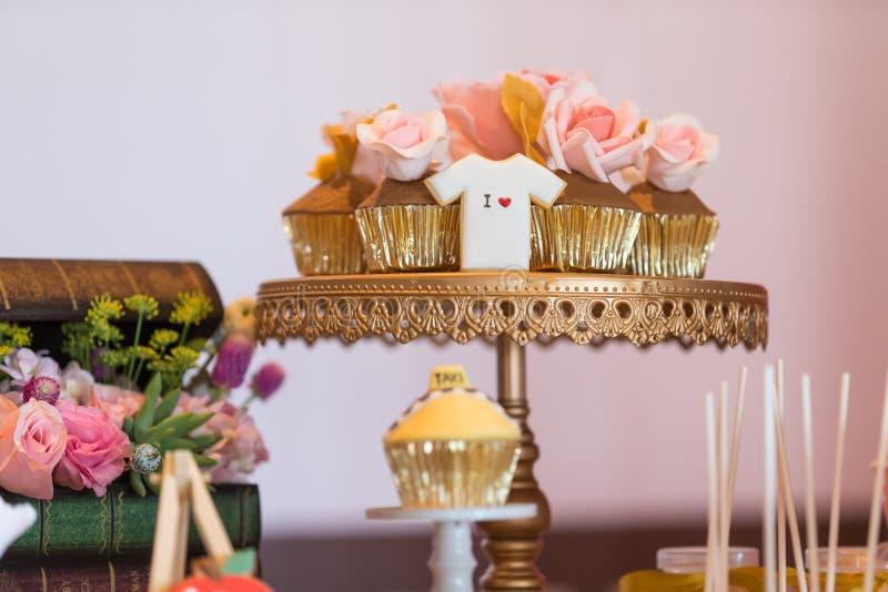Huwelijksdessert stock fotografie