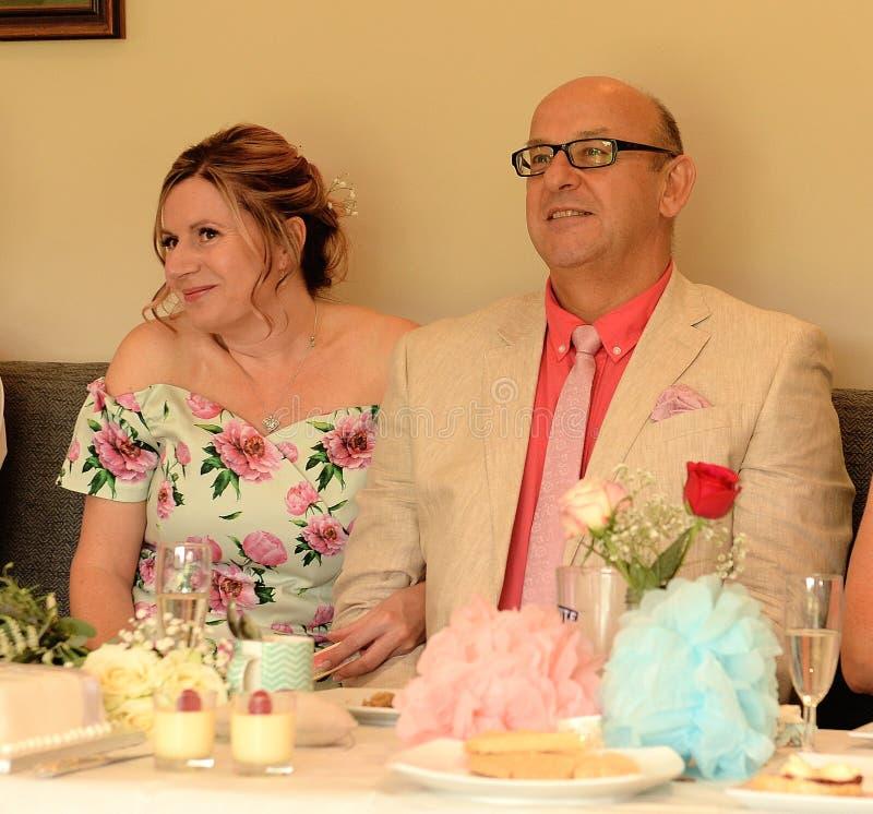 Huwelijksdiner stock foto