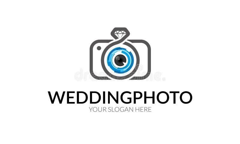 Huwelijksfoto Logo Template vector illustratie