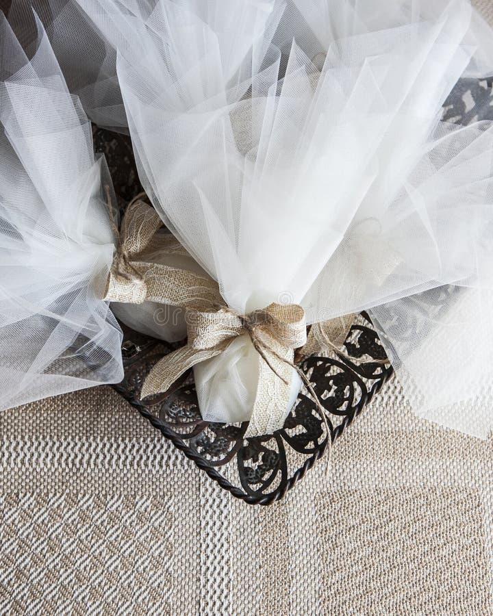 Huwelijksgiften voor gast stock fotografie