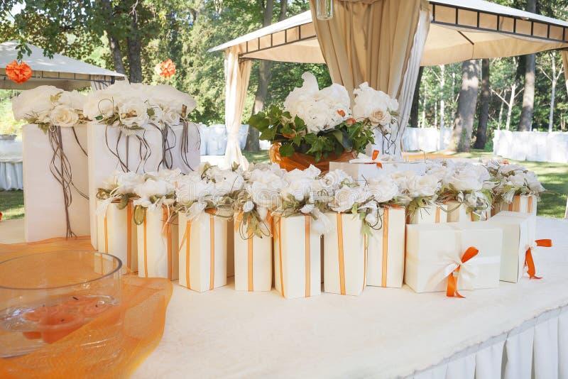 Huwelijksgunsten stock fotografie