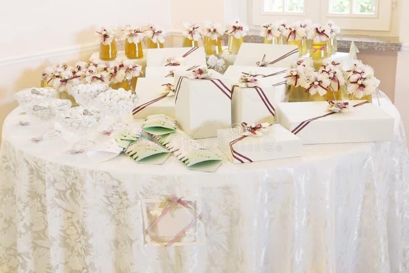 Huwelijksgunsten royalty-vrije stock foto's