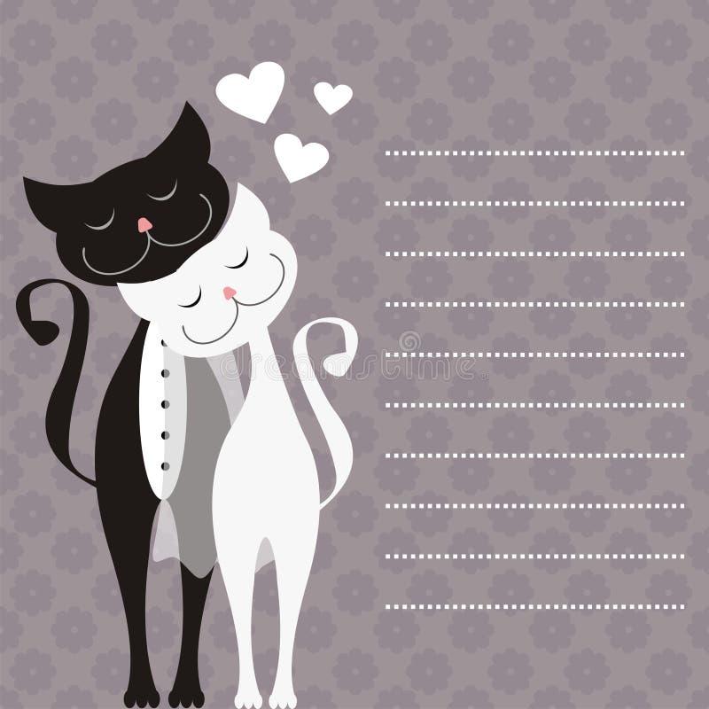 Huwelijkskaart royalty-vrije illustratie