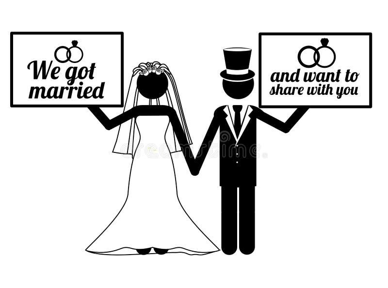 Huwelijksontwerp vector illustratie