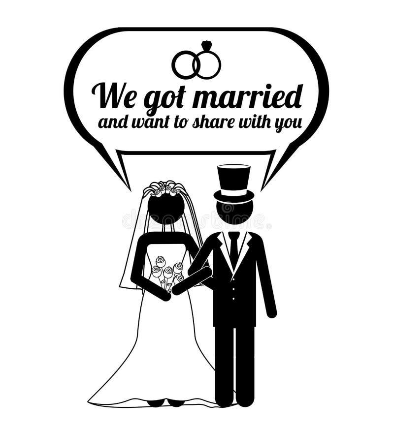 Huwelijksontwerp stock illustratie