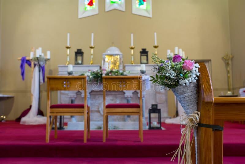 Huwelijksopstelling in Kerk. Ierland royalty-vrije stock foto's