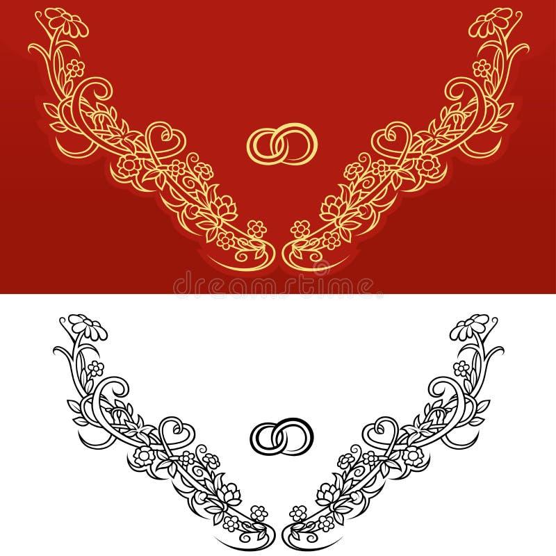 Huwelijksornament royalty-vrije illustratie