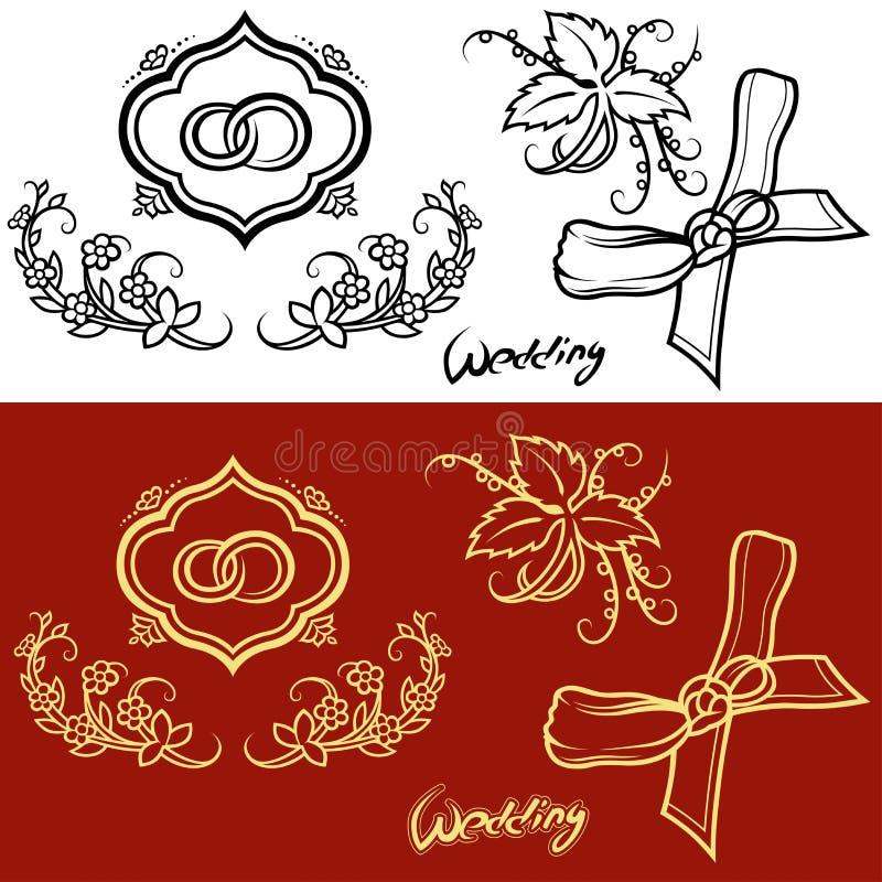 Huwelijksornament vector illustratie