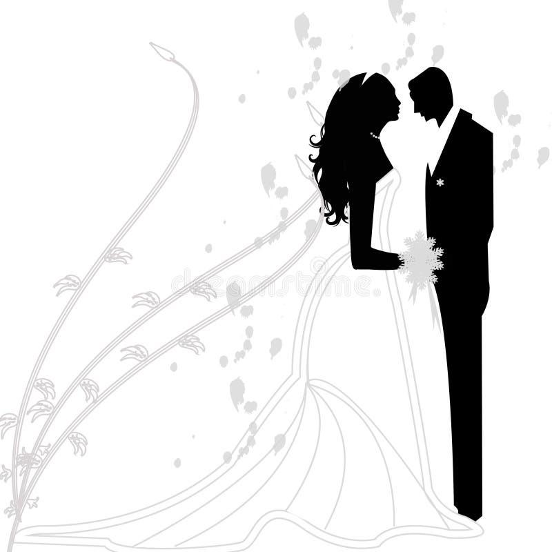 Huwelijkspaar royalty-vrije illustratie