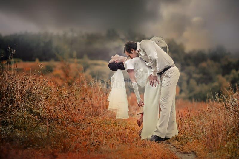 Huwelijkspaar royalty-vrije stock foto