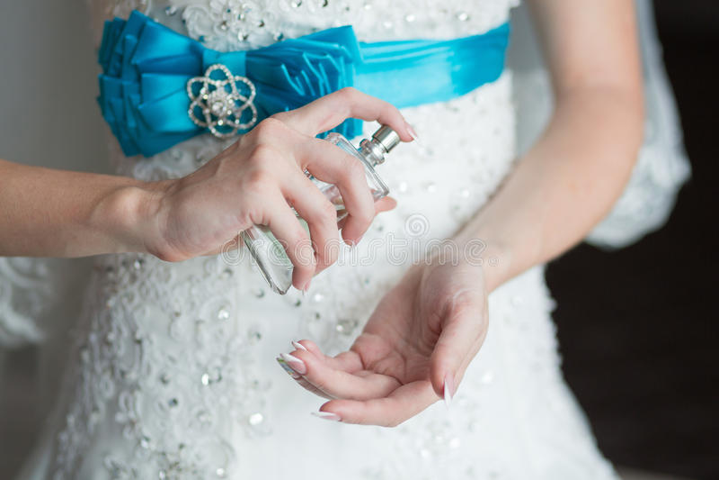 Huwelijksparfum stock foto