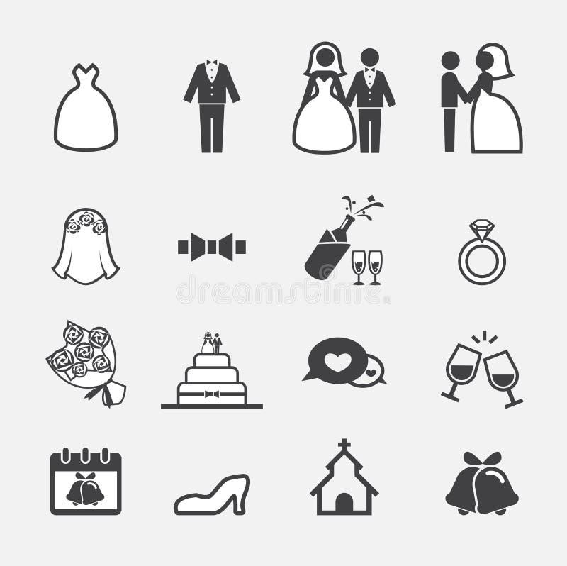 Huwelijkspictogram royalty-vrije illustratie