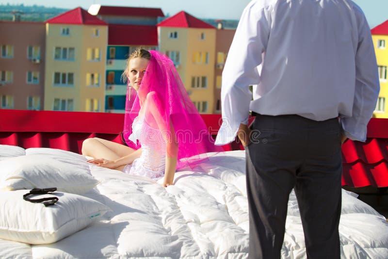 Huwelijksschot stock afbeelding
