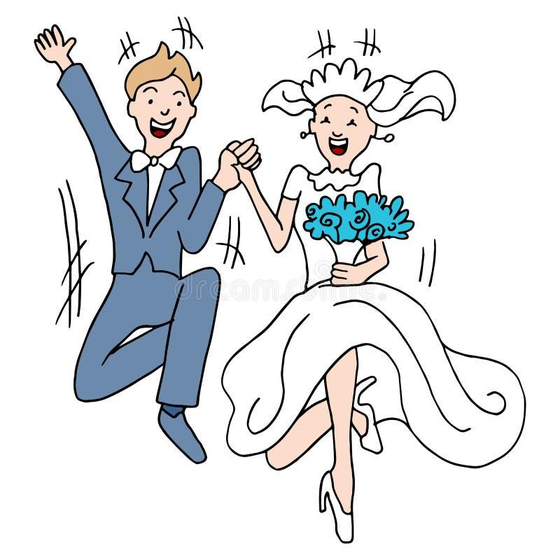 Huwelijkssprong stock illustratie