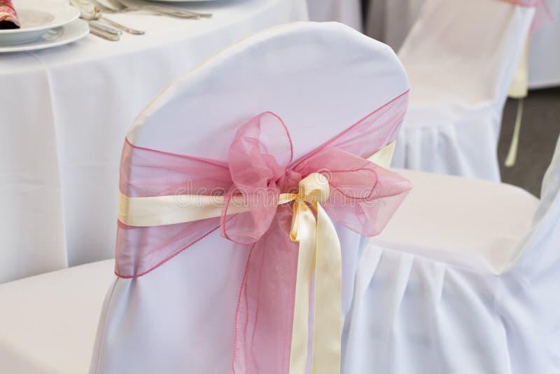 Huwelijksstoel royalty-vrije stock afbeeldingen