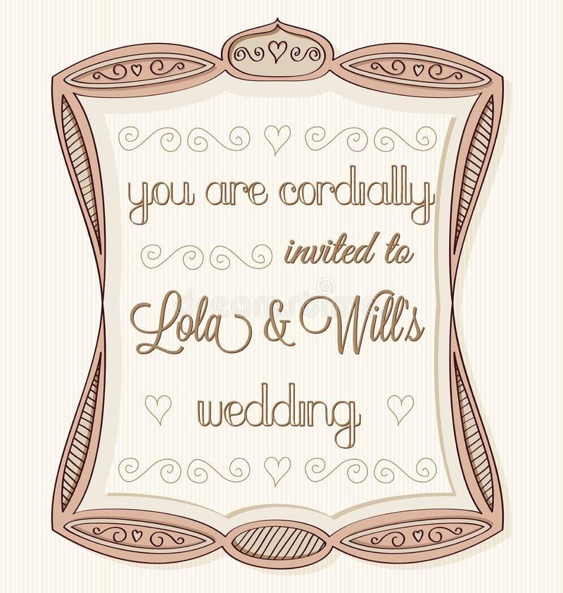 Huwelijksuitnodiging vector illustratie