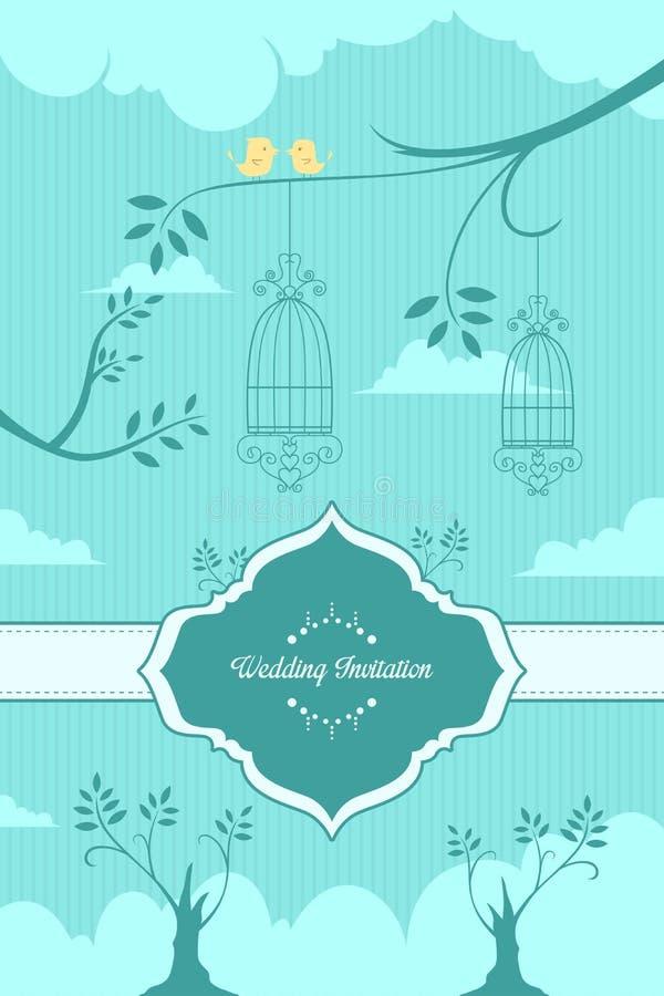 Huwelijksuitnodiging stock illustratie