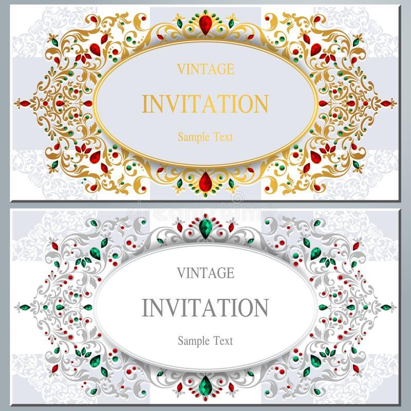 Huwelijksuitnodiging of kaart met abstracte achtergrond vector illustratie