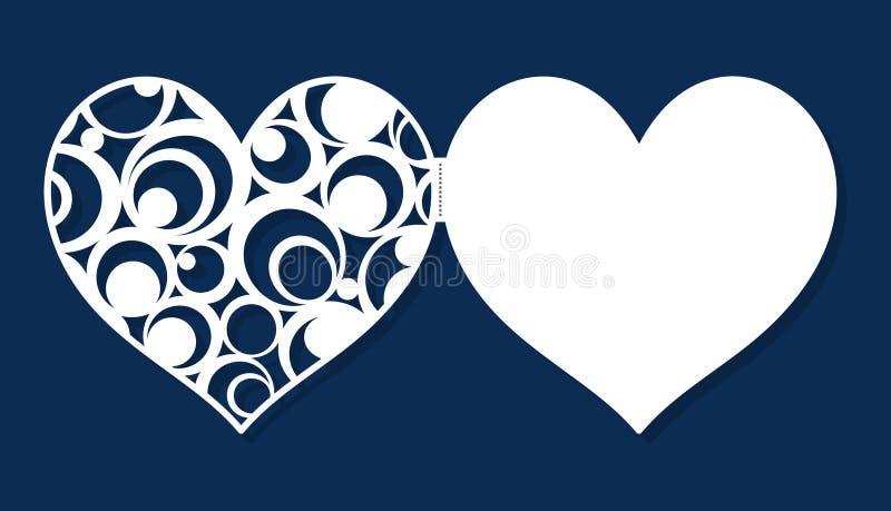 Huwelijksuitnodiging, overeenkomst, de kaart van de de daggroet van Valentine ` s royalty-vrije illustratie