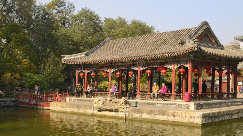 Huxin Pavilion in Prince Gong Mansion royalty free stock photos