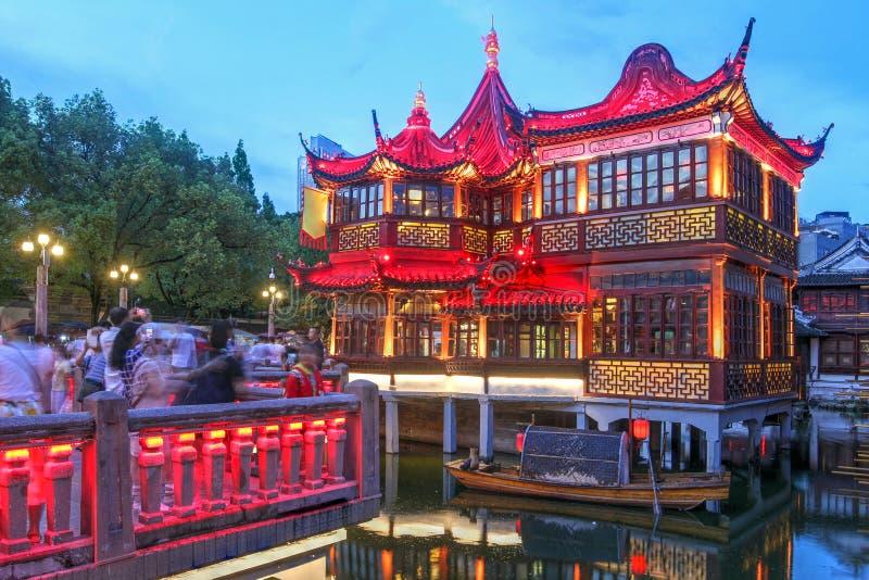 Huxinting teahouse, Yu Garden, Shanghai, China stock photos